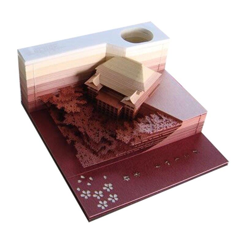 Bricolage Scrapbooking Omoshiroi bloc 3D commodité autocollants papiers carte artisanat créatif stéréoscopique papier collant