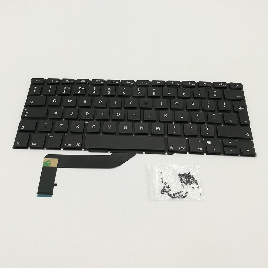 Brand New Laptop Keyboard For Macbook Pro 15 A1398 2012-2015 UK Version With Screw терка brand new 2015