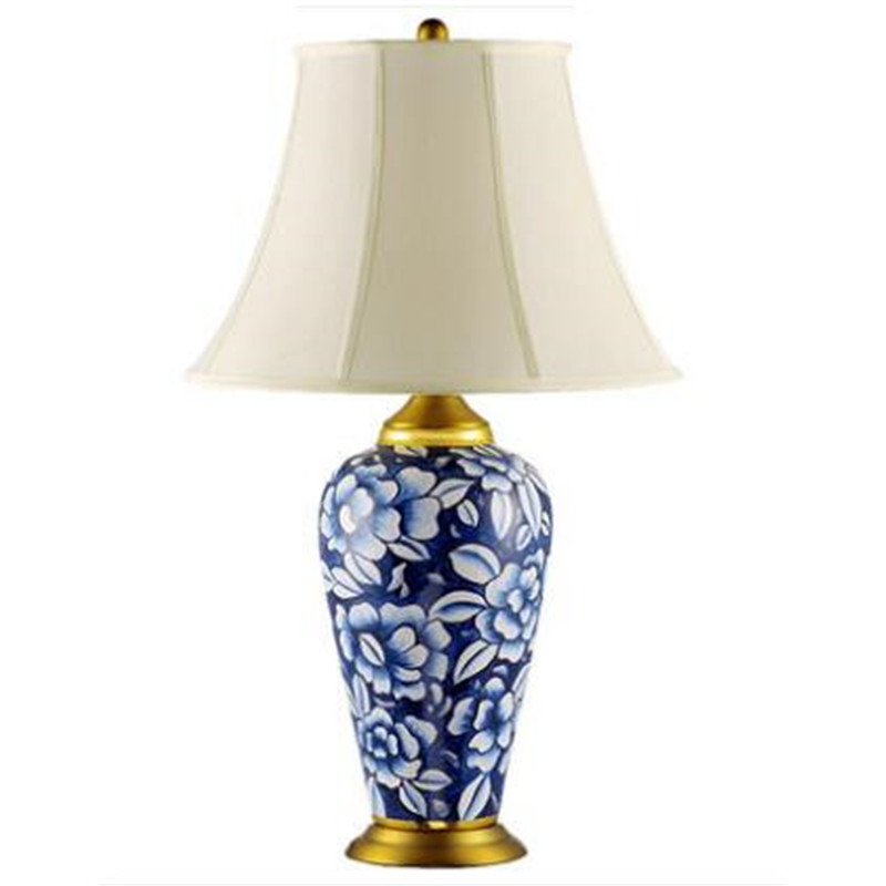 Us 267 21 10 Off Clical Blue And White Chinese Porcelain Led E27 Table Lamp Handmade Jingde Zhen Ceramic Light For Living Room Study H 59 74cm In