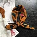 Высокое качество новый Корейский сад Шифон Шарф весной все матч шифоновый шарф украшены Корейской повелительницы галстук женщин шарфы