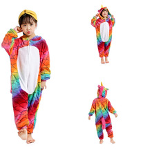 Colorful Unicorn Star Unicorn Children Kids Pajamas Unisex Cosplay Animal Costume Onesie Nightwear Stitch Panda Dinosaur