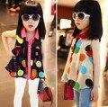 Children Girls Blouses & Shirts Polka Dot Print Chiffon Sleeveless Summer Girls Shirts Kids Tops Fashion Girls Clothes 3-5y
