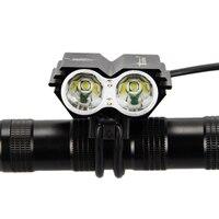 พายุสุริยะไฟจักรยาน7000 Lumens 2x XM-L U2 Ledด้านหน้าจักรยานจักรยานไฟโคมไฟแบบชาร์จอุปกรณ์จักรยาน+หางแสง