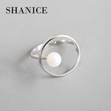 SHANICE минималистичные ювелирные изделия, 925 пробы, Серебряное простое геометрическое кольцо, открытые, кольца на палец для женщин, девушек, вечерние, рождественский подарок