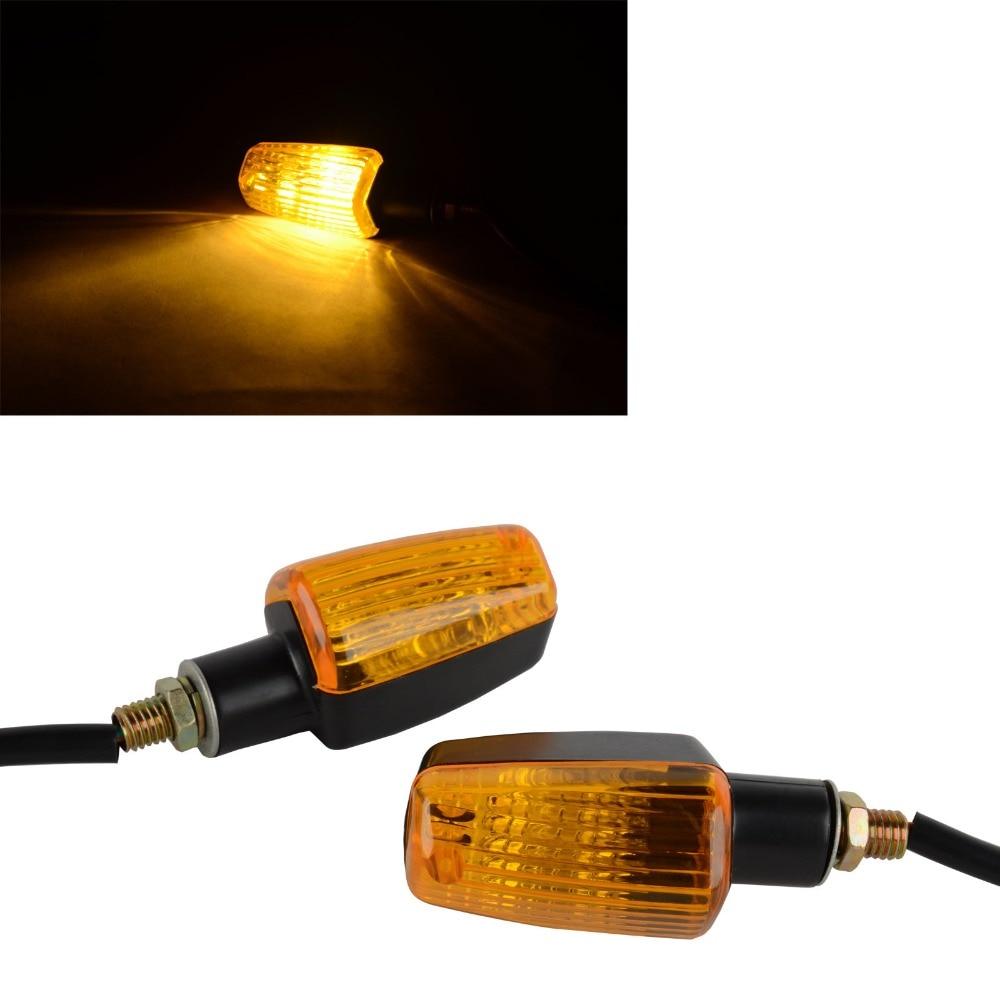 2PCS Universal Motorcycle Plastic Turn Signal Indicator Light DC 12V Amber Lens Piscas Moto