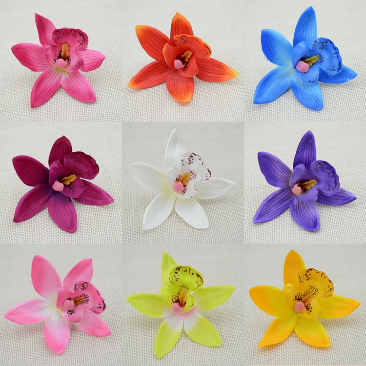 Free shipping 10pcs cheap silk flower cymbidium simulation free shipping 10pcs cheap silk flower cymbidium simulation artificial flower wedding flower butterfly orchid artificial flowers mightylinksfo