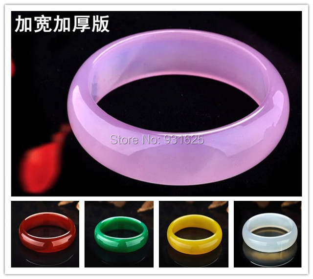 5 Colors Wider red green Natural Agate Jade bracelet Large wider lucky bangle fashion jewelry elegant bangles 58-62mm