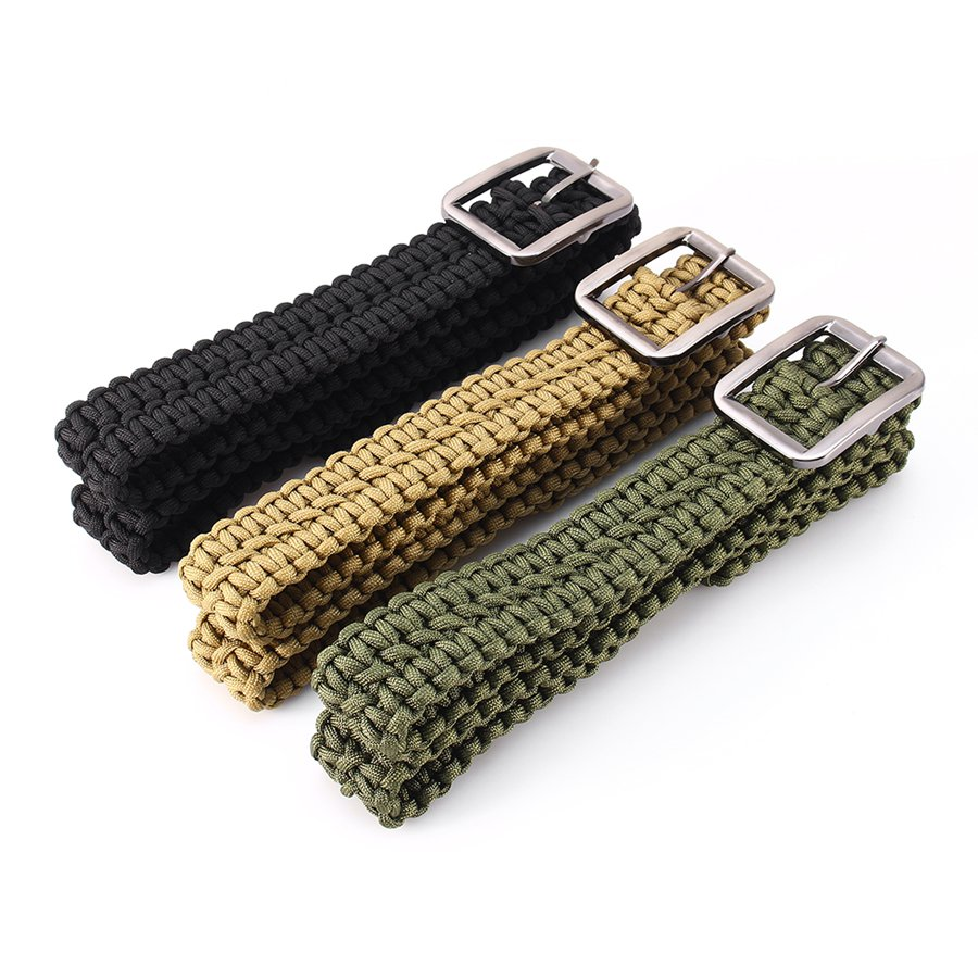Survival paracord belt 550 paracord belt utility belt for How to make a belt out of paracord