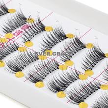 Makeup 10 Pairs Mini Corner Lashes Half False Eyelahes Accent Lengthen Eye Lash