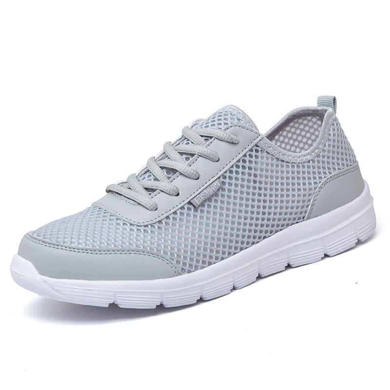 Plus Large Size 35-46 Mænd Sko Lys 2017 Sommermode Breathable Men Casual Shoes Mænd Sneakers High Quality Flat Mesh Shoes