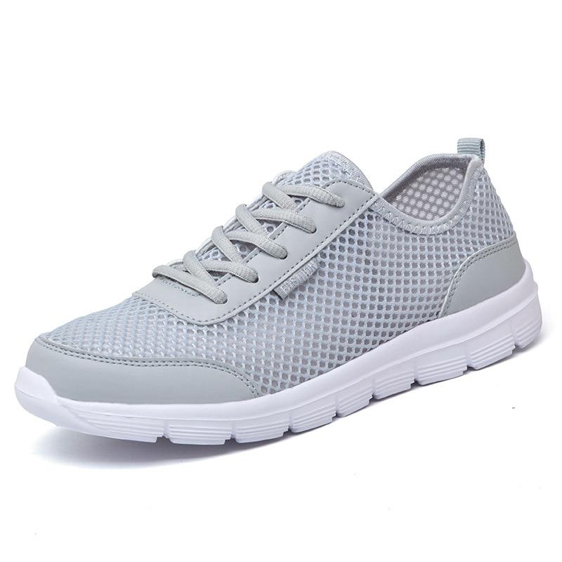Plus Large Size 35-46 Men Shoes Light 2017 Summer Fashion Breathable Men Casual Shoes Men Sneakers High Quality Flat Mesh Shoes