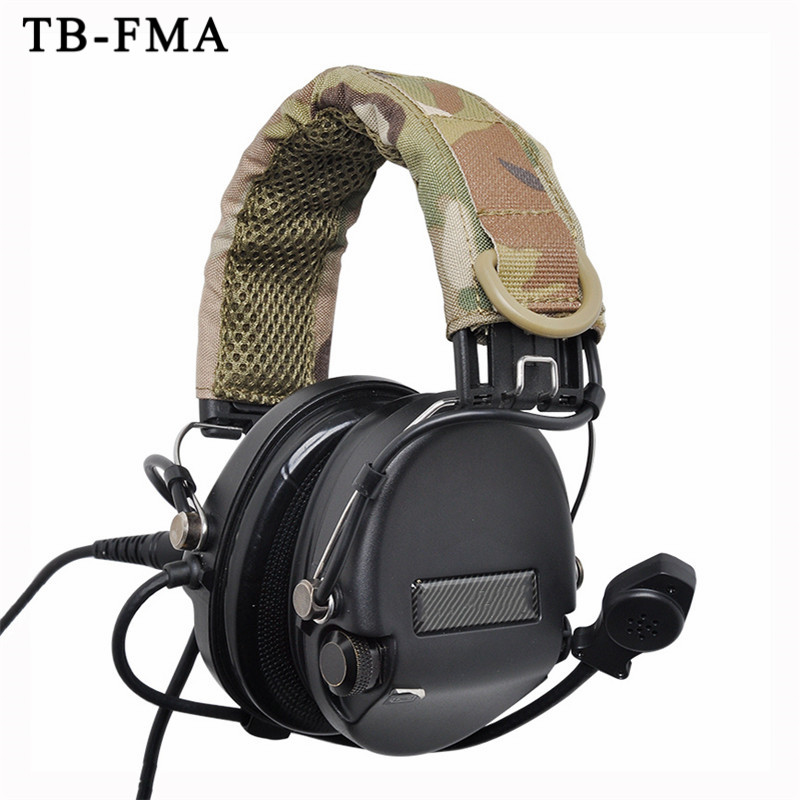 TB-FMA Best Tactical Headsets Headband Cover Multicam For Airsoft Hunting Tactical Headsets Accessories Upgrade Free Shipping