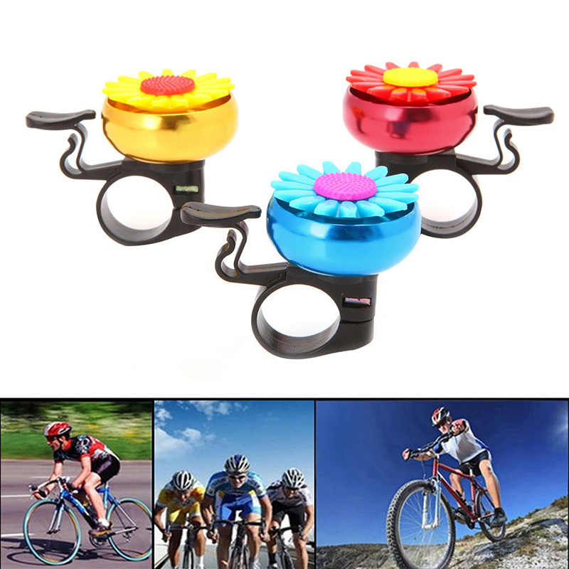 1 PC Sepeda Sepeda Topi Tanduk Alarm Keras Stang Logam Bunga Bell Cincin