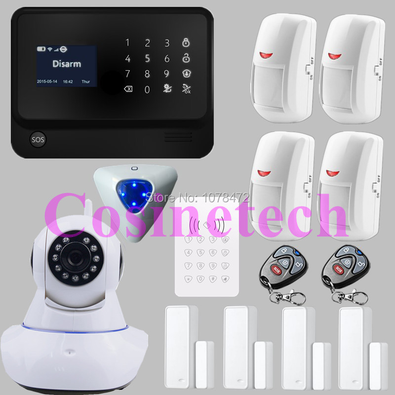 2016 Internet WiFi GSM GPRS Home Security Alarm System G90B alarm Kit GSM burglar alarm system with mul-ti language in menu homi security home gsm alarm system fighting burglar 2016