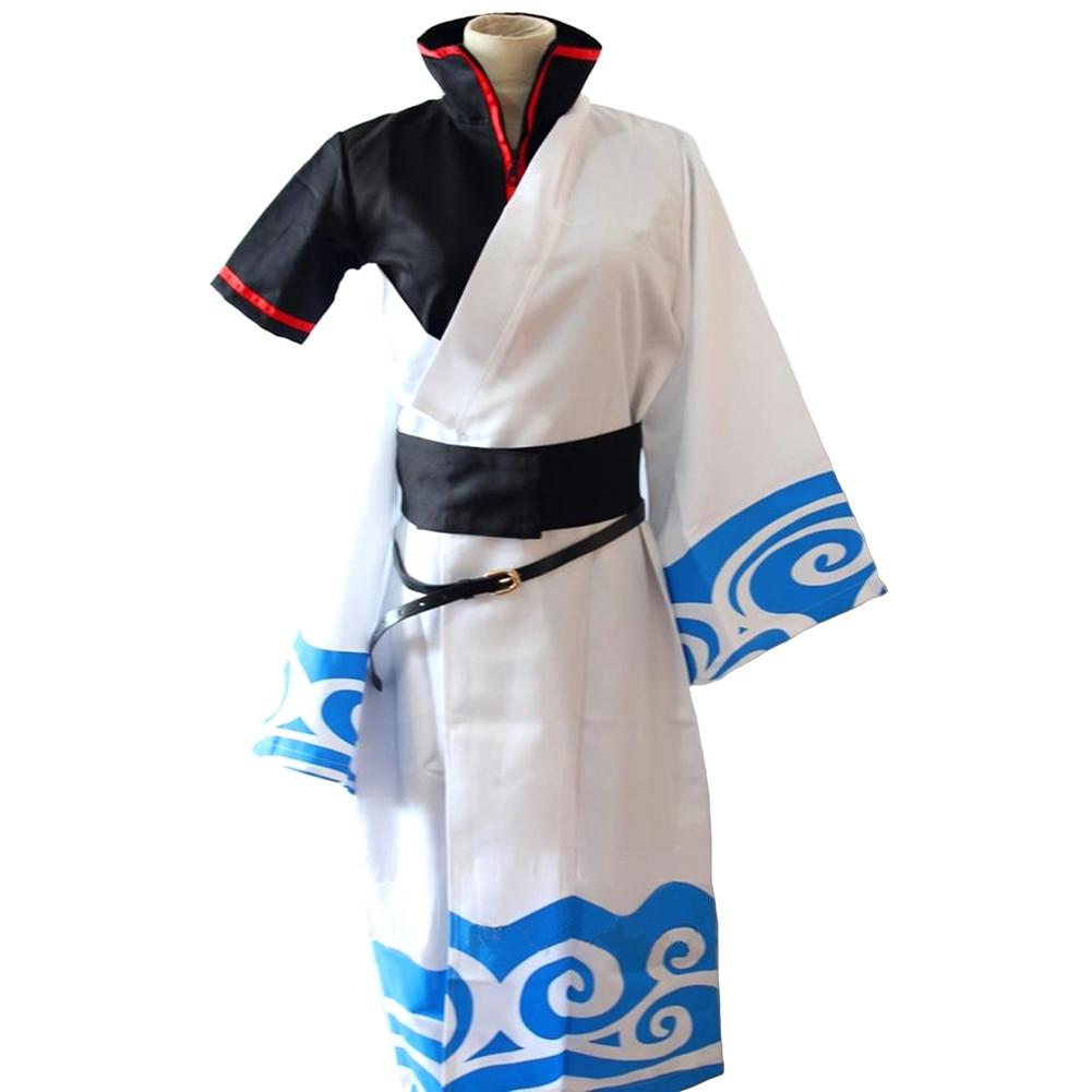 Brdwn GINTAMA Unisex Sakata Gintoki Cosplay costume Kimono (top+pants+kimono+belt)