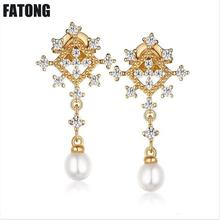 The new 925 silver fashion natural pearls are versatile and elegant earrings for girlfriends. J0166