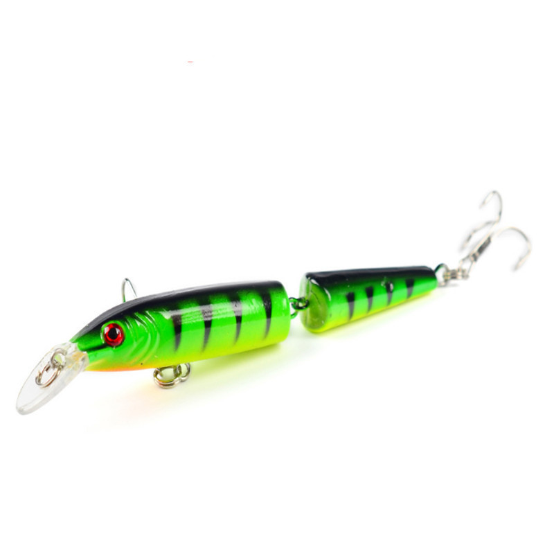 1PCS 10.5cm 9g Wobblers Pike Fishing Lures Artificial Multi Jointed Sections Bait Crankbait Fake Fish For Fishing Carp Tackle
