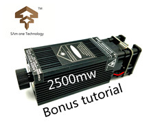 Бесплатная доставка Высокая мощность TRUE 2,5 Вт 2500 мвт 445нм 450нм Фокусируемый blueLaser модуль лазерный гравер часть DIY лазерная головка с pwm/ttl