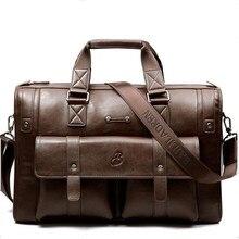 Портфель мужской из натуральной воловьей кожи, роскошный саквояж на плечо в деловом стиле, мессенджер из натуральной кожи, дорожный чемодан...
