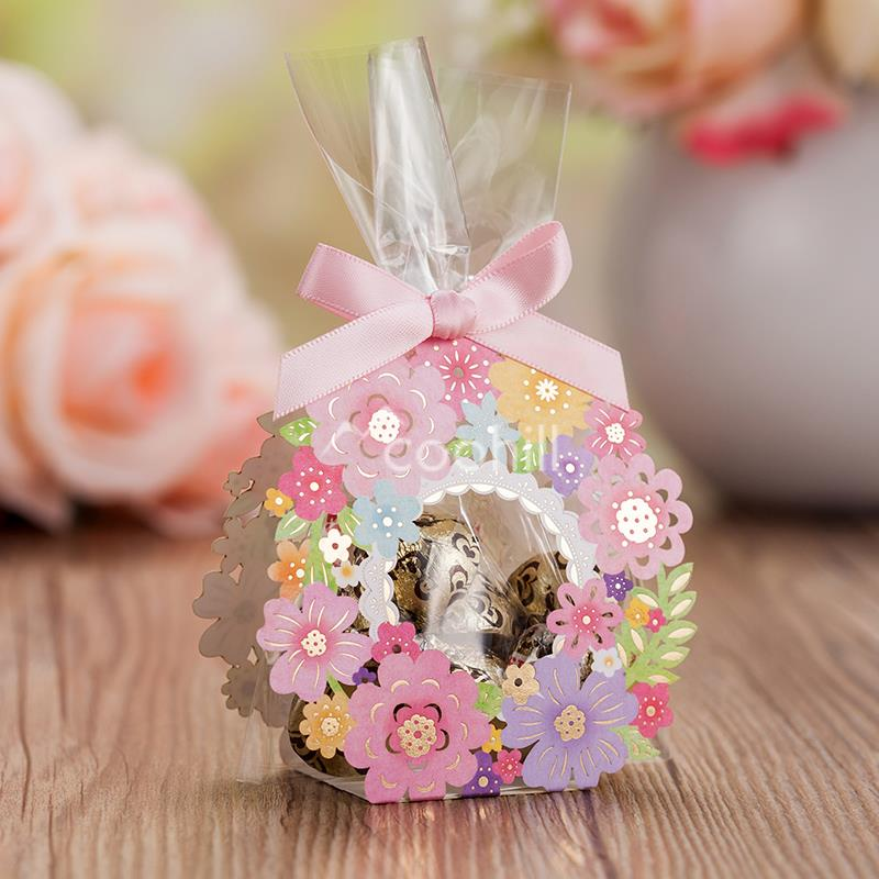 Wedding Gift Flowers: 50pcs Hollow Flower Garden Wedding Candy Box Wedding