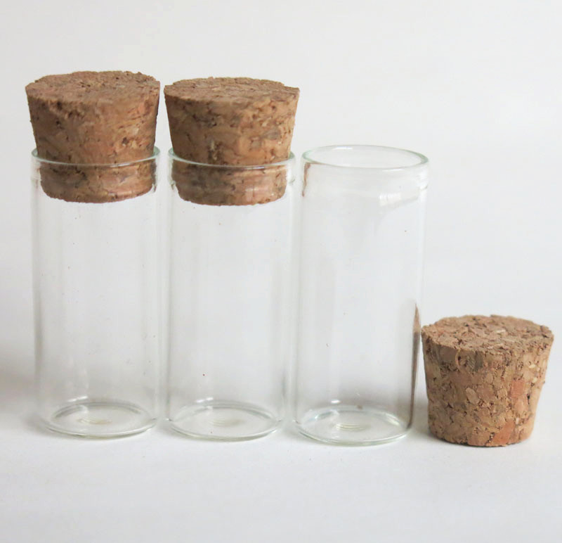 Free Shipping -3ml Mini Glasst ubewith wood cork,clear sample vials. cork stoppered tube