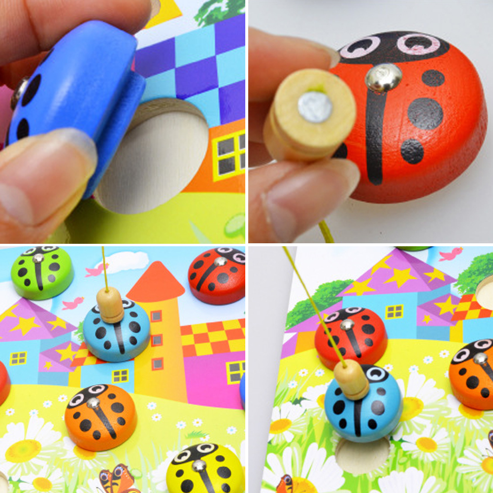 Cartoon-Wooden-Magnetic-Fishing-Toy-Colorful-3D-Beetle-Shape-Parent-Kids-Play-Toys-Fishing-Game-Toys-for-Children-New-Year-Gift-2