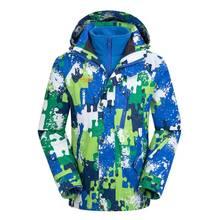 Сезон Зима Детская камуфляжная верхняя одежда для детей теплые куртки для альпинизма водонепроницаемые ветрозащитные куртки для мальчиков