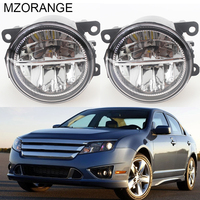 For FORD FUSION (JU_) 2002 2013 2014 2015 Automotive Styling Modified Front Bumper LED Fog Lamps LED Daytime Running Lights 12V