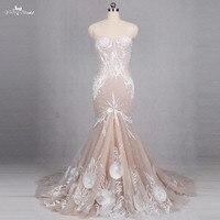 RSW1146 Lace Mermaid Ivory Champagne Wedding Dress