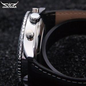 Image 3 - Jaragar高級機械式時計自動6ピンカレンダービッグダイヤルストラップ腕時計montreオムrelojes suizos