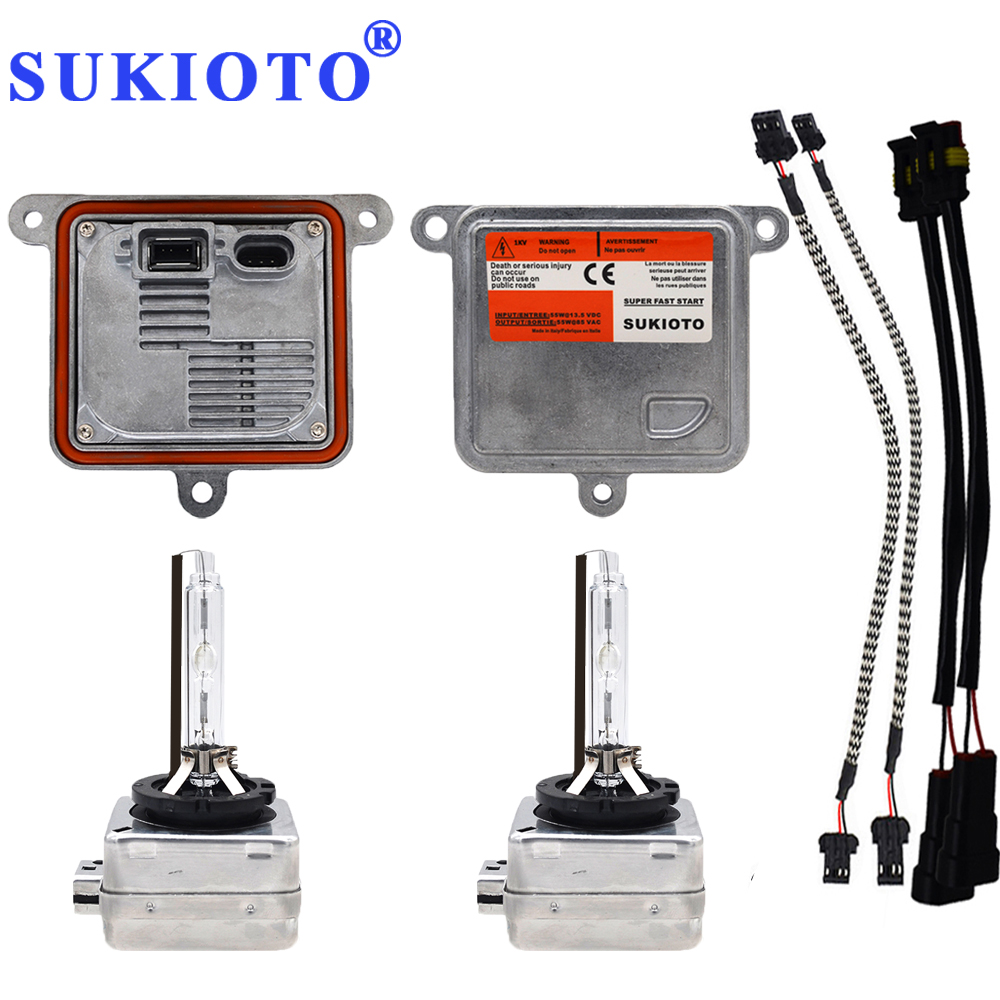 SUKIOTO 55W Xenon D1S Xenon HID Headlight Kit D3S 4300K-8000K CANBUS d1s d3s xenon ballast A71177E00DG Car Headlight bulb Light makibes xenon hid kit car headlight xenon bulb slim ballast