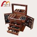 Коробка ювелирных изделий с замком настоящая деревянная Принцесса Европейский ретро многофункциональный коллекция коробка свадебный подарок ящик для хранения организатор