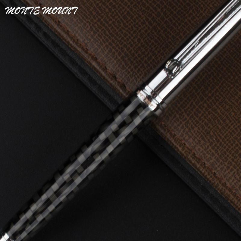 MONTE MOUNT High Quality Fiber Roller Ball Pen  Pearl Cap Stationery Office School Supplies Blance Brand Writing Pen As Gift