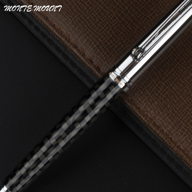 monte mount high quality fiber roller ball pen pearl cap stationery