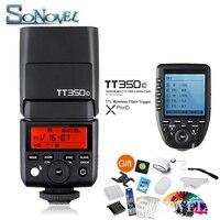 Godox TT350C Mini Speedlite + XPro C Flash Trigger Transmitter 2.4G Wireless X System with E TTL HSS GN36 Camera Flash for Canon