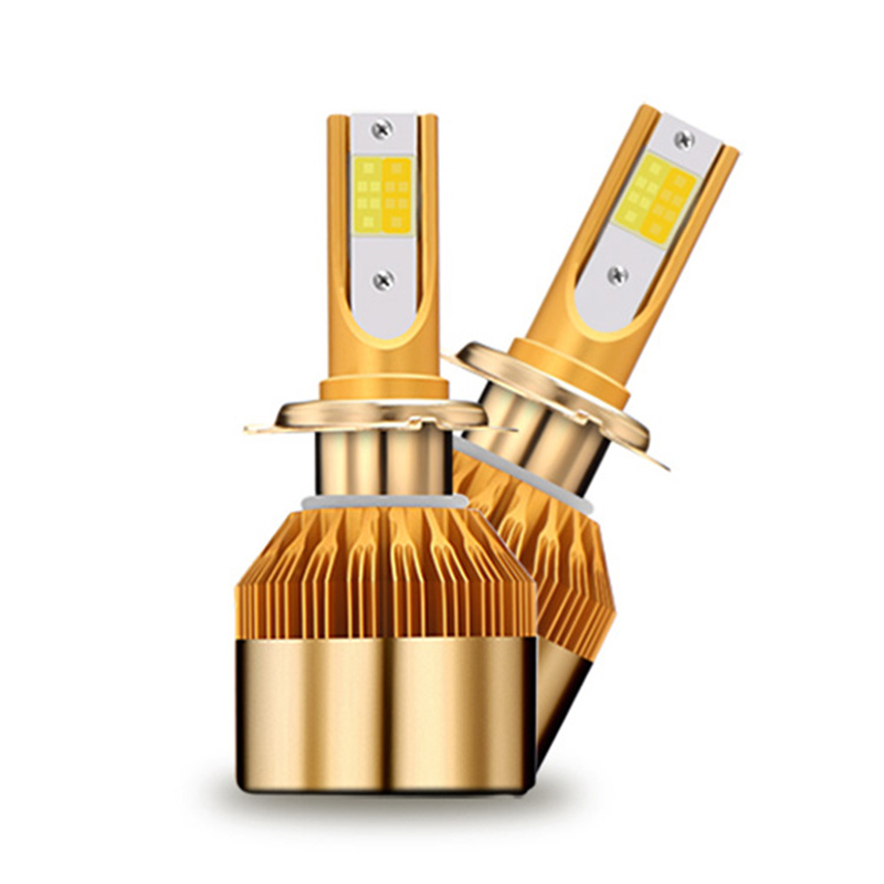 CROSSLEOPARD White Gold Color 12V 10000LM H4 H7 H1 H8 H9 H11 Led Car Headlight 3000K 6000K Dual Color Led Headlamp Auto Bulbs  (15)