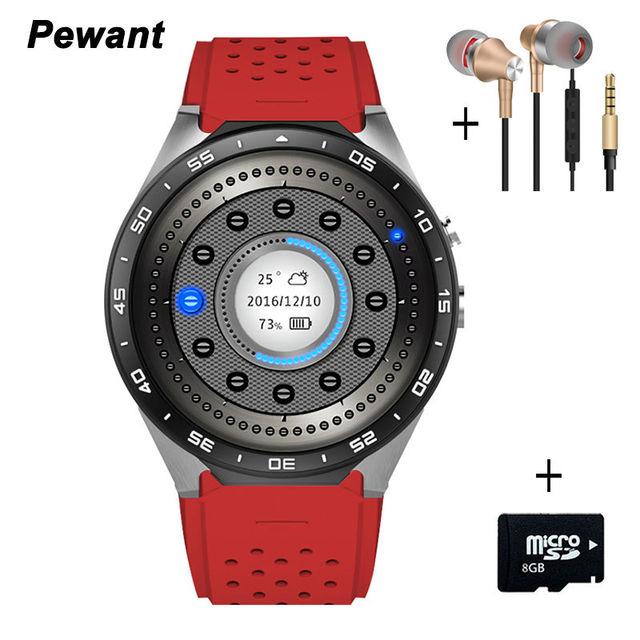 2017 Лучший 3 Г Wi-Fi Smart Watch Android 5.1 Smartwatch С MTK6580 512 МБ/4 ГБ Часы 400*400 нано SIM WCDMA Сердечного ритма 2.0MP GPS