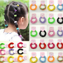 New 10PCS/Lot Girls Nylon 3CM Rubber Bands Children Safe Elastic Hair Bands Ponytail Holder Kids Hair Accessories girl hairbands(China)