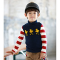 New 2015 Cotton boys cartoon t shirt kids baby stripes and velvet high-neck t shirts children long sleeve blouses clothes