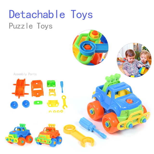 Jeep Car Toys Disassembling Diy Small Particles Building Blocks