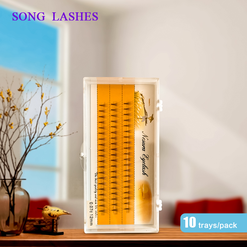 SONG LASHES 3 Lines 3d/4d/5d/6d Heat Bonded Pre Made