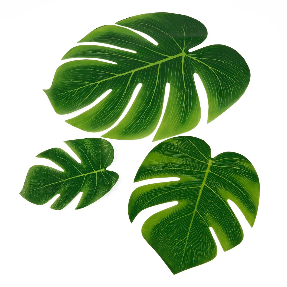 10pcs 12pcs Green Artificial Tropical Palm Leaves Hawaiian Luau Party Jungle Beach Theme Party Decoration Hawaii 2