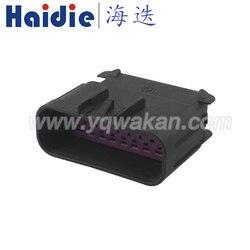 Darmowa wysyłka 1 zestaw 16pin auto sealed auto wodoodporna wtyczka kable w wiązce kabel reflektorów złącze 15326085|Złącza|Lampy i oświetlenie -