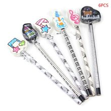 Musical Note Pencil 2B Standard Round Pencils Piano Notes Eraser Writing Drawing Tool Stationery School Student Gifts 8pcs writing drawing pencil musical note pendant pencil sketch painting non toxic pencils for school students stationery