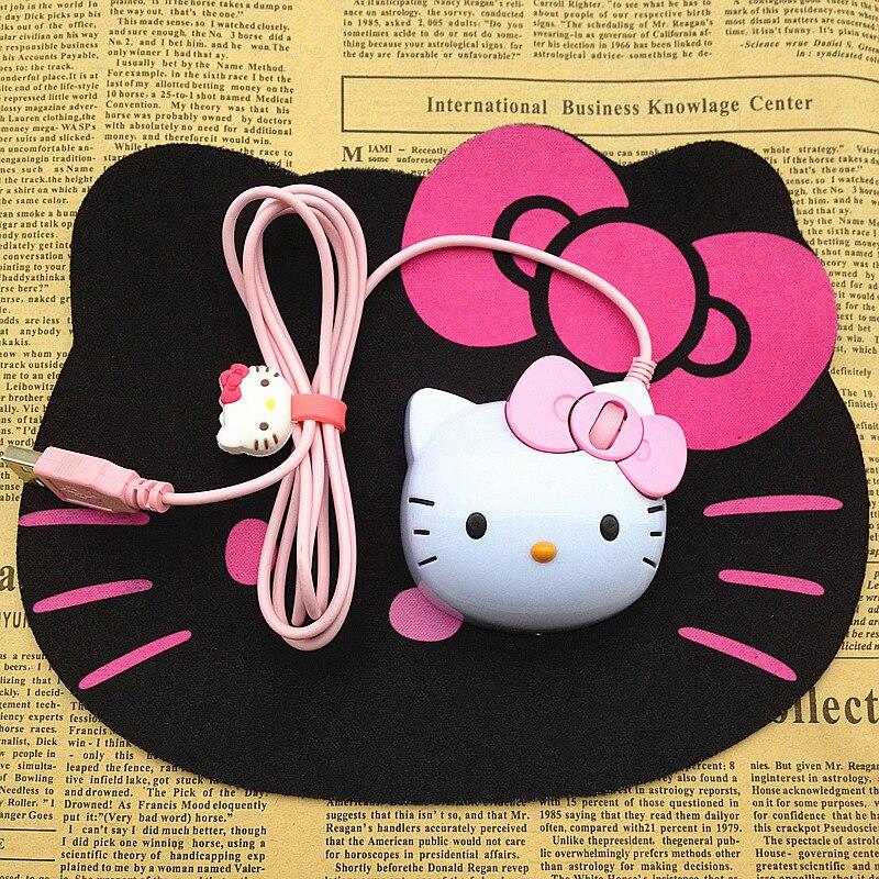 Creative 3d hello kitty light up usb optical mouse cartoon for Lit hello kitty