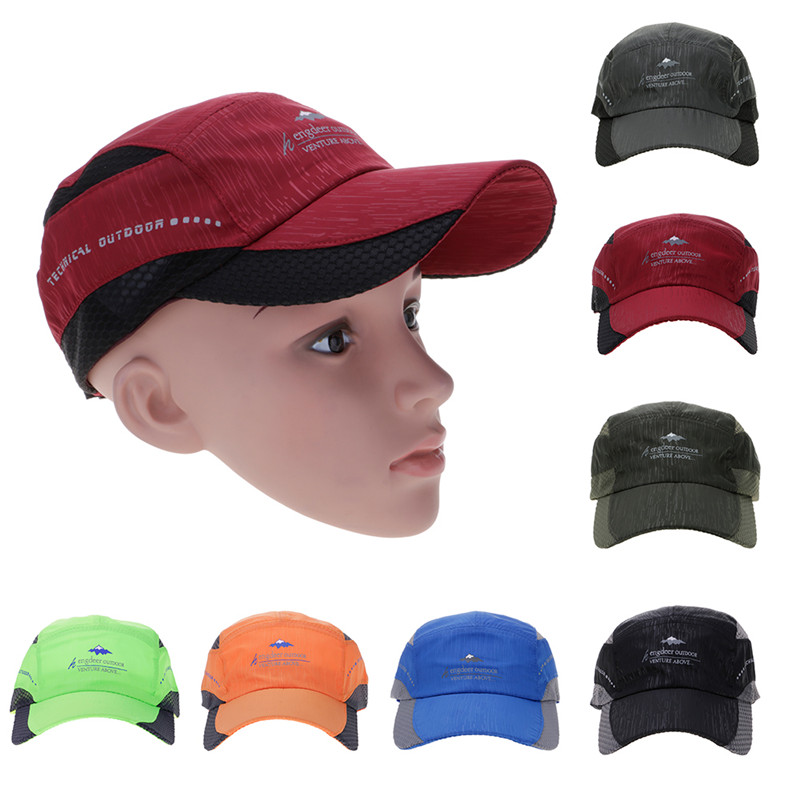 Sports Large Wide Brim Fast Quick Drying Mesh Baseball Golf Peaked Cap Sun Hat Cycling Bike Bicycle Cap