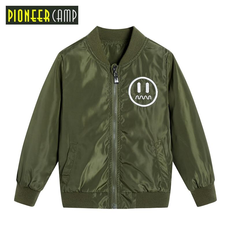 Pioneer Camp Kids Jackets for Boy Coat Bomber Jacket Boys' Baseball Children's Jacket Spring Autumn Outwear for Kids