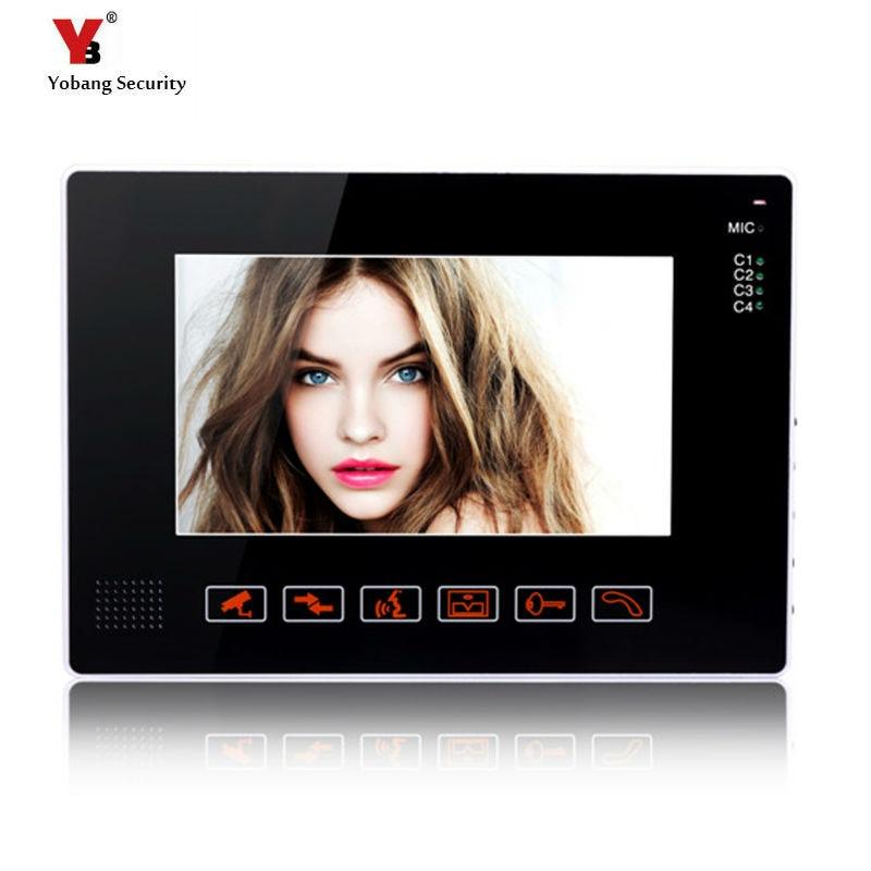 Yobang Security freeship 9 inch Monitor for video doorphone doorbell only indoor machine for door intercom With video recording