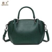 Qiwang Latest Women Genuine Leather Shoulder Bag Fashion Lady Hobo Handbag Casual Hobo Messenger Crossbody Top