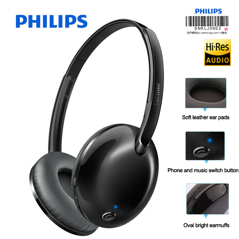 Philips Wireless Headset SHB4405 with Bluetooth 4 1 Lithium polymer Volume Control for Iphone X Galaxy